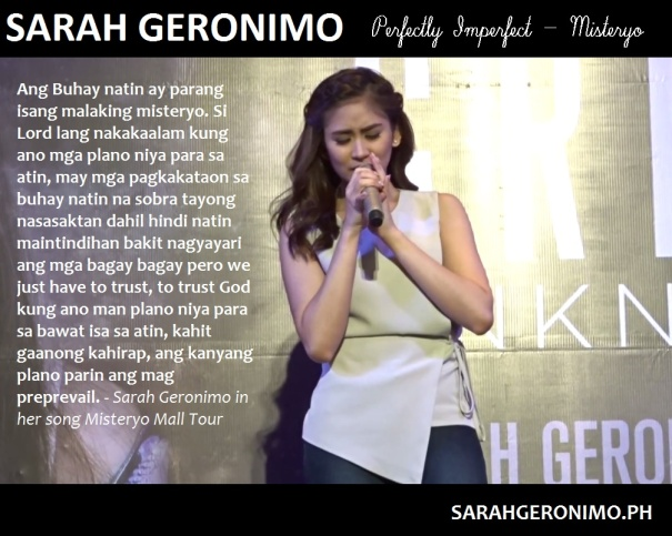 Sarah Geronimo GPS Online TV misteryo trust in God